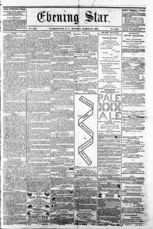 WASHINGTON, D. C.. MONDAY, MARCH 24, 1862 N?. 2,835 I THE EVENING STAR H PUBLISHED BVBtCT AFTEKNOOH, (SUNDAV K \OKPTKl),) AT