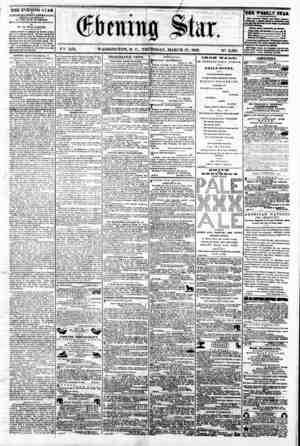 "\?X XIX. ""'?J?roir P T/lOf roH WASHINGTON, D. C.. THURSDAY, MARCH 27, 1862. N?. 2,838. TJIE EVENING blAR M PUBLISHED EVERT"