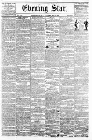 firming Star. V2i. XIX. WASHINGTON, D. C.. TUESDAY, MAY 6. 1862. N?. 2,872 111E EVENING STAR is PFBLT?1TED EVERY AFTERNOON,