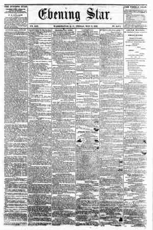 . ^ _ j . n ifLI * (gtaittg Star, Hi . __ V24. XIX. WASHINGTON, D. C., FRIDAY. MAY 9, 1862. IN?. 2,875 . .. ? _? THE EVENING