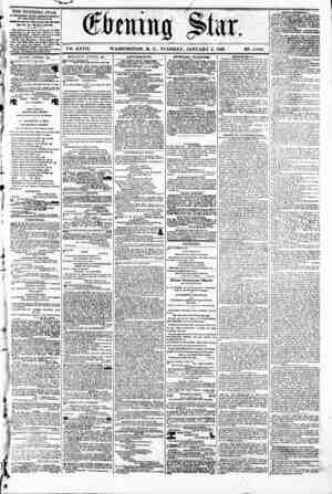 _# _ . . - Star. vs. XXVII. WASHINGTON. D. C.. TUESDAY. JANUARY 2. 1866. N2. 4,00-2. k THE EVENING STAR rlB PVBLMHID DAILT,