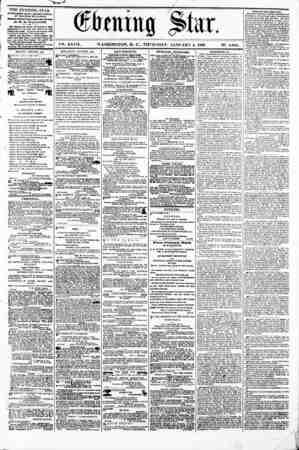 bmm% ?ta. V?. XXVII. WASHINGTON. D. C.. THURSDAY. JANUARY 4. 1866. N2. 4,004. V s I THE EVENING STAR 18 FVBLUHZD DAILY,...