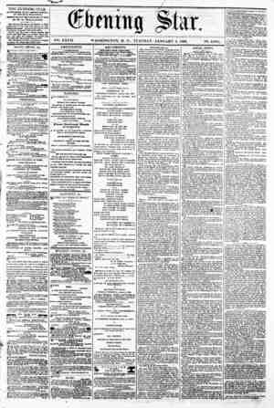 j^Sk A i y m i H? Hi jJH R Hj B 19 jf EM / x?3 |fl V2i. XXVII. WASHINGTON. D. C.. TUESDAY. JANUARY 9. 1866. N2. 4,00*. THE