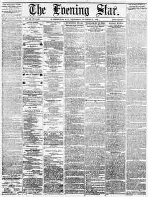 pe J n mm Sfctf* V?. 40-IS5. 6.123. WASHINGTON, D. C., THURSDAY, OCTOBER 31. 1872. TWO CENTS. THE EVENING STAR. Publhhrtl...