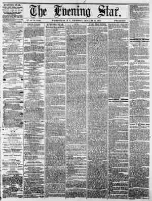V?>. 41-N?. 6,186. WASHINGTON, D. C., THURSDAY, JANUARY 16, 1873. TWO CENTS. EVENING STAR PiMfcbe* tally, fiawlafi ciicyld,