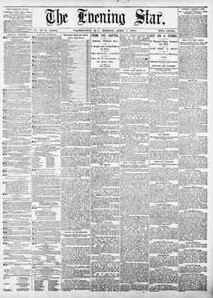 flje fOfnimj jsfat Vou 76?No. 16,004. WASHINGTON. D. C.. MONDAY, APRIL 7, 1890. TWO CENTS. TIIE EVENING ST A I'l KLIMfHi...