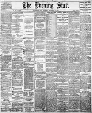 THE EVENING STAR. PUBLISHED DAILY. Excrpt Suwitj, AT the STAB BUILDINGS, lid PfMjy'.Tiali Art., const llta 8tmt, by The...