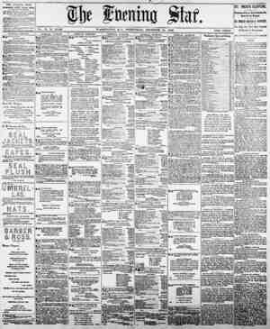 Vol 77, No. 18,026. W ASHINGTON, D. C., WEDNESDAY, DECEMBER 24, 1890. , TWO CENTS. THE EVENING STAR PTBUSHFIJ ftlILT* Kwpt