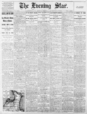 """THE EVENING STAR. riDLlSIIED DAILY, EXCEPT SISDAT, AT THE STAB BUILDINGS, HOI Pennsylvania Ave., Cor. Ilth St., by """"he..."""