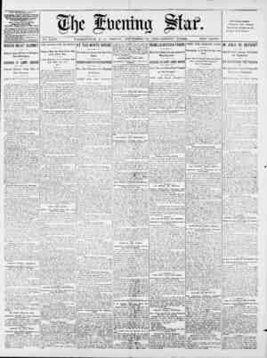 ______reunr ____. No. 14,529. WASHINGTON, D. C., FRIDAY, SEPTEMBER 22, 1899-SIXTEEN PAGES. TWO CENTS. THE EVENING STAH....