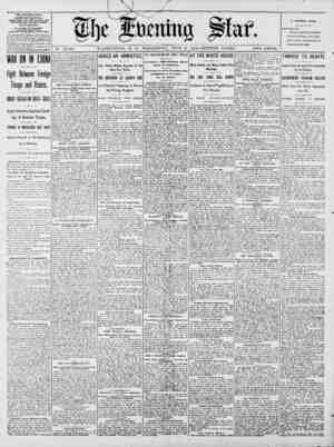 No. 14,749. WASHINGTON, D. C., WEDNESDAY, JUNE 6, 1900-SIXTEEN PA.GES. TWO CENTS. THE EVENING STAR. pumm PAly. ECEPT SinA.