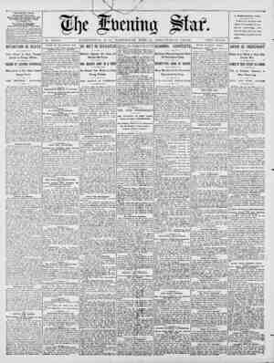 No. 14,755. WASHINGTON, D. C., -WEDNESDAY, JUNE 13, 1900-TW.ELVE PAGES. TWO CENTS. THE EVENING STAR. FILISKED DAILY, EXCEPT