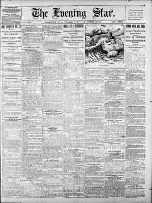 No. 15,684. WASHINGTON, D. C0, TUESDAY, JTUNE-, 2, 1903-TWENTY PAGES. TWO CENTS. TH EVENING STAR. PUnruISmH DAILY, EXCEPT...
