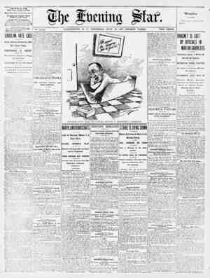 """* 1I)C fftjcntmj ptat. No. 17,105. WASHINGTON, D. C., THURSDAY, JULY 25, 1907-TWENTY PAGES. TWO CENTS. THE EVEN'""""NG STAB WTTH"""