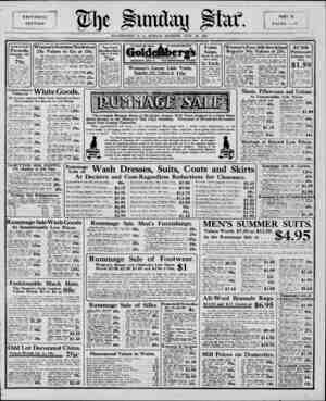 EDITORIAL SECTION ?he PART II. PAGES 1?6 WASHINGTON, D. C., SUNDAY MORNING. JULY 28,, 1912. $1.50 to $2.50 Parasols, Rummage