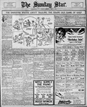 "I .=.! Hftje flurutay 1 I WASHINGTON, D. C., SUNDAY MOfiNING, JUNE 7, 1914.   THE o: > Jf"" HIS is the thrilling ?y history of"
