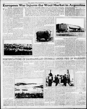 "European War Injures the Wool Market in Argentina i'""Vpyrisbt. 1915. by Frank G. Carpenter.> BUENOS AIRES. THE war in Europe"