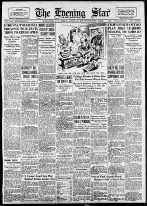 """. J2»25L-. The only evening paper Pair, continued cool i»l,hi; ,o""""«ro. ' """" M' fair. Temperatures—Highest, 88, at l ,..."""