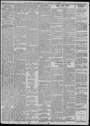 THE EVENING STAR With Sunday Morning Edition THEODORE W. NOYES, Editor WASHINGTON, D. C. THYRSDAY...November 11, 1937 Thd...