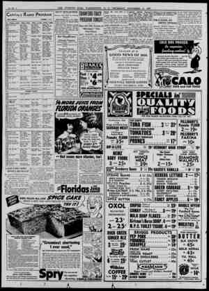 Capitals Radio Program TODAY'S PROGRAM NOVEMBER 11, 1937 P.M. WMAL—630k WRC—950k WOL— 1,310k i WJSV—1460k 12:00 Armistice Day