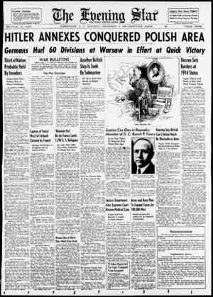"""Weather Forecast If. Today's War News TODAY I I"""" II \7 As Night Falls on Europe's Battle X-KS.d.rr«si TreS.ri*S %£,/ I I BU"""
