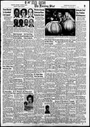 FASHIONS—READERS' CLEARING HOUSE SOCIETY—CLUBS—RECIPES WASHINGTON AND VICINITY WEDNESDAY, SEPTEMBER 21, 1949 Three Elected To