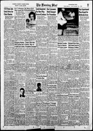 FASHIONS—READERS' CLEARING Ht)USE SOCIETY—CLUBS-RECIPES W J£kf WASHINGTON NEWS WEDNESDAY, SEPTEMBER 21, 1949 125 Firms Join
