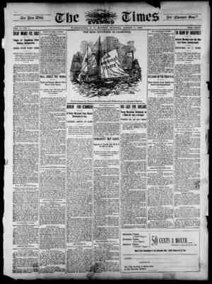 The Evening Times Gazetesi 5 Ağustos 1895 kapağı