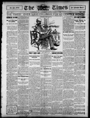 The Evening Times Gazetesi 8 Ağustos 1895 kapağı