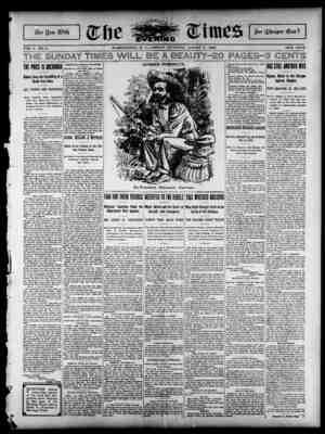 The Evening Times Gazetesi 9 Ağustos 1895 kapağı