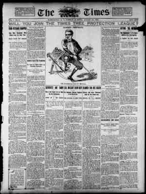 The Evening Times Gazetesi 13 Ağustos 1895 kapağı