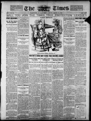 The Evening Times Gazetesi 15 Ağustos 1895 kapağı