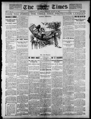 The Evening Times Gazetesi 20 Ağustos 1895 kapağı