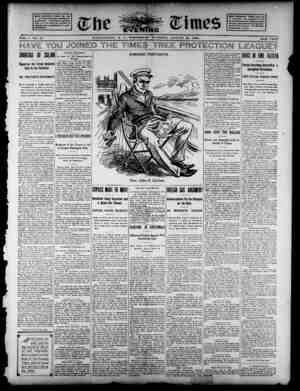 The Evening Times Gazetesi 21 Ağustos 1895 kapağı