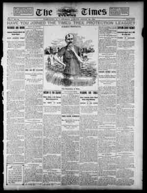 The Evening Times Gazetesi 22 Ağustos 1895 kapağı