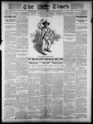 The Evening Times Gazetesi 23 Ağustos 1895 kapağı