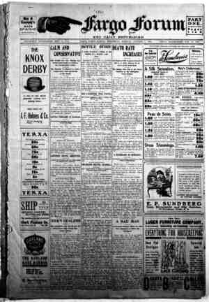 The Fargo forum and daily republican Gazetesi 7 Ekim 1903 kapağı