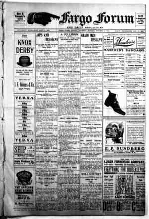 The Fargo forum and daily republican Gazetesi 8 Ekim 1903 kapağı