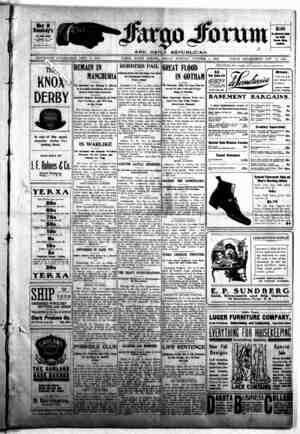 The Fargo forum and daily republican Gazetesi 9 Ekim 1903 kapağı