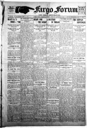 The Fargo forum and daily republican Gazetesi 10 Ekim 1903 kapağı