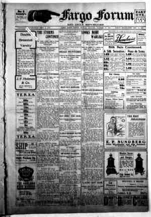 The Fargo forum and daily republican Gazetesi 12 Ekim 1903 kapağı