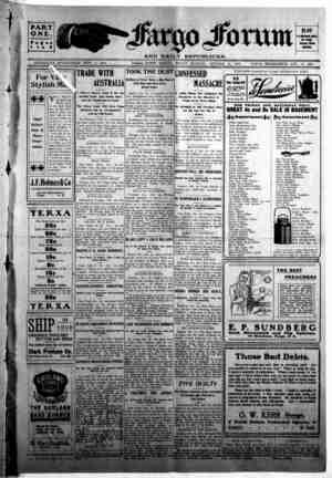 The Fargo forum and daily republican Gazetesi 16 Ekim 1903 kapağı