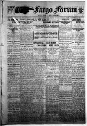 The Fargo forum and daily republican Gazetesi 17 Ekim 1903 kapağı