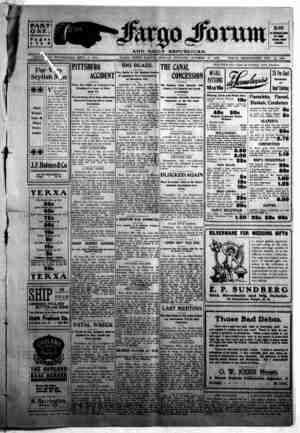 The Fargo forum and daily republican Gazetesi 19 Ekim 1903 kapağı
