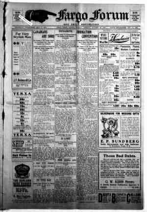 The Fargo forum and daily republican Gazetesi 20 Ekim 1903 kapağı