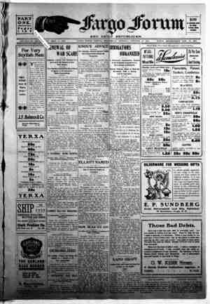 The Fargo forum and daily republican Gazetesi 21 Ekim 1903 kapağı