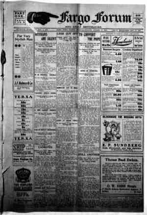 The Fargo forum and daily republican Gazetesi 22 Ekim 1903 kapağı