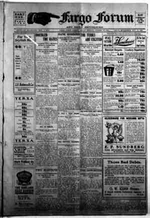 The Fargo forum and daily republican Gazetesi 23 Ekim 1903 kapağı