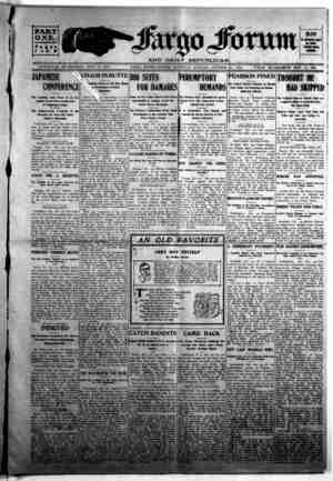The Fargo forum and daily republican Gazetesi 24 Ekim 1903 kapağı