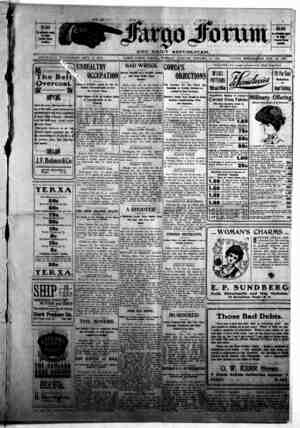 The Fargo forum and daily republican Gazetesi 27 Ekim 1903 kapağı